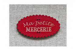 "Bouton en bois ""Ma petite mercerie"""