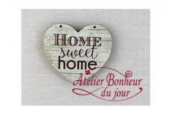 "Bouton en bois ""Home sweet home"""