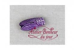 "Bouton en bois ""Cigale"""