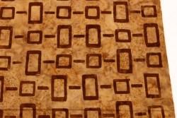 Tissu Patchwork Macchiato taupe marbré avec motifs géométriques