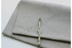 Toile de lin naturel EDIMBURGH de Zweigart, coloris 7011 gris clair 14 fils au cm