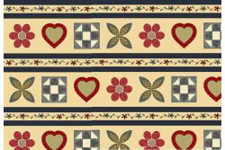"Tissu Henry Glass ""Bandes motifs patch"""