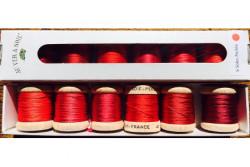 Pack 6 nuances de Soie Perlée Au Ver A Soie Nuances rouges