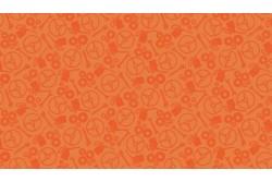 """Tissu Patchwork Makower """"Auto"""" faux uni orange sur thème voiture"""