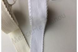 Bande à broder en Aida 5.5, blanche, bords festonnés
