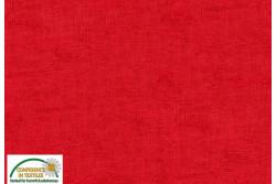 Tissu Patch Stof mélange ton sur ton rouge