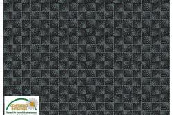 """Tissu Patch Stof Quilters Coordinates """" Carrés de points en 3 D noir """""""