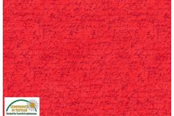 "Tissu Patch Stof Quilters Coordinates "" Ecritures fond rouge orangé"""