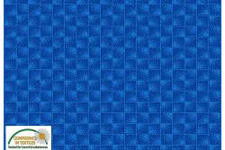 """Tissu Patch Stof Quilters Coordinates """" Carrés de points en 3 D bleu roi """""""