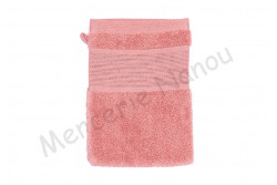 Gant de toilette à broder Rico bois de rose