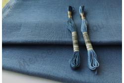 Toile de lin BELFAST de Zweigart, coloris 578 bleu gris