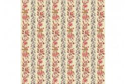 """Tissu Patch  """"Rochester"""" Floral Stripe"""