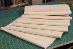 Percale de coton ivoire