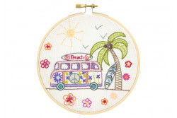 "Kit de broderie traditionnelle ""Road trip à miami"""
