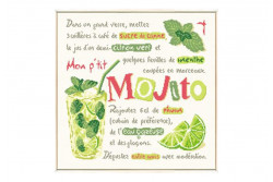 "Diagramme au point de croix Lilipoints "" Mojito"""