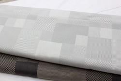 Toile à broder  jacquard NIZZA gris clair