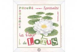 """Diagramme au point de croix Lilipoints """" La fleur de Lotus"""""""