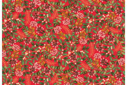 "Tissu Makower ""Leaf Swirl red"""
