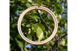 Tambour amovible en bois pour broder