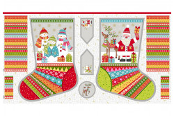 "Tissu Makower noël 2019 ""Large Stocking"""