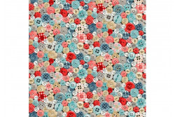 "Tissu patch ""Stitch in time"" multitude de boutons"
