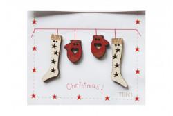 """Boutons  """"Chaussettes et mouffles, Noël"""""""