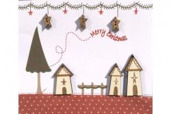 """Boutons  """"Maisons et Etoiles de Noël"""""""