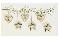 """Boutons  """"Coeurs et Etoiles, musique de Noël"""""""
