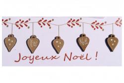 "Boutons  ""Coeurs de Noël"""