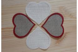 Cœur festonné prêt à broder en lin