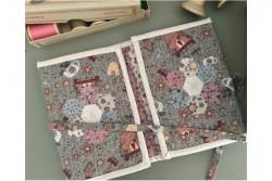 """Kit patchwork """"Pochette précieuse grise"""""""