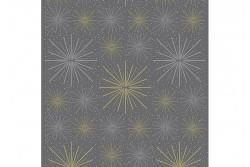 """Tissu Stof """"Sparkle and Fade"""" explosion d'étoiles sur fond gris foncé"""