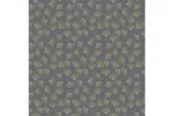 """Tissu Stof """"Sparkle and Fade"""" Pissenlit or et argent sur fond gris foncé"""