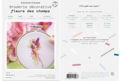 """Kit de broderie décorative French Kits """" Fleurs des champs"""""""