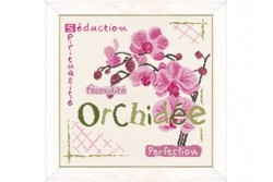 """Diagramme au point de croix """" Orchidée """""""