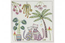 """Kit de broderie traditionnelle """"Vacances sous les tropiques"""""""