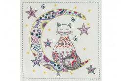 """Kit de broderie traditionnelle """"Au clair de la lune"""""""