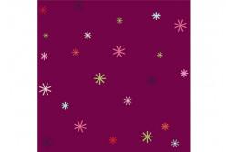 """Tissu patch """"Stitch Cats"""" petites étoiles multicolores sur fond aubergine"""