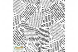 tissu patch Quilters combination écritures de Journal