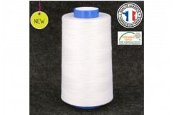 Cône de fil polyester 5000m blanc