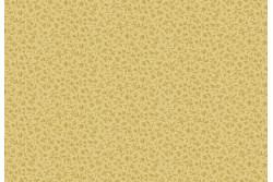 """Tissu patch à petits motifs """"petites feuilles sur fond beige doré"""""""