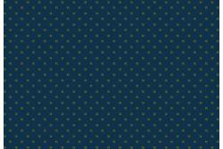 """Tissu patch à petits motifs """"Petits carrés verts sur fond bleu roi"""""""