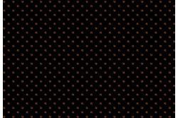 """Tissu patch à petits motifs """"Petits carrés rouges sur fond noir"""""""
