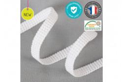 Elastique plat blanc 5 mm Hypoallergénique, sans Latex