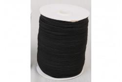 Elastique plat 4mm noir bobine de 200m