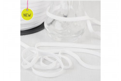 Elastique plat blanc 5 mm