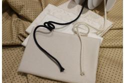 Cordon en coton 4 mm noir