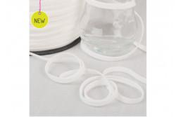 Elastique tissé plat blanc 5 mm
