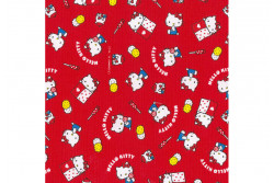 Tissu Hello Kitty okashi rouge