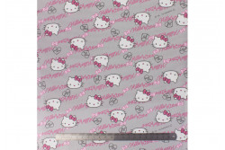 Tissu Hello Kitty oxford gris